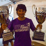 Daniel Wageman with trophies